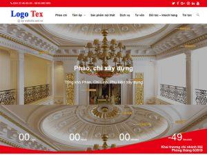 Giao diện website kinh doanh phụ kiện xây dựng