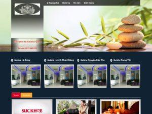 Mẫu giao diện website spa
