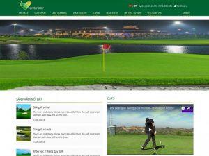 Website dịch vụ golf