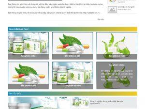 Giao diện website bán thuốc ở Hai Bà Trưng