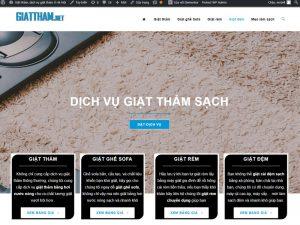 Giao diện website dịch vụ vệ sinh